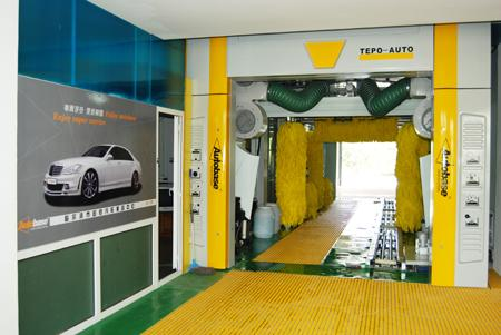 Automatic Tunnel Car Washing Machine With Brush , Quick Cleaning Speed