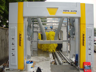 الصين Brushless Tunnel Car Wash System Automatic With High Air Drying المزود