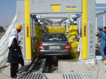 الصين Steel Tunnel Car Washing Machine , TEPO-AUTO Automatic Car Washer المزود