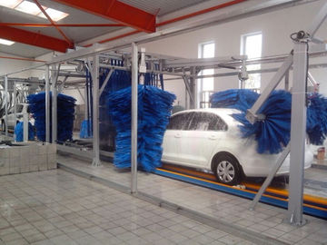 الصين Tunnel Car Wash Systems With Three Color Wax Spraying , Innovation Mode المزود